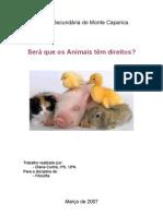 Tese Sobre Os Animais e Os Seus Direitos- Filosofia