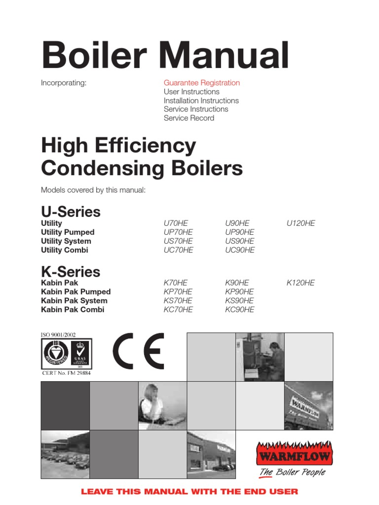 High Efficiency Condensing Boilers Manual | Water Heating | Thermostat