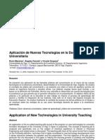 Aplicación de Nuevas Tecnologías en la Docencia Universitaria