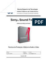 soundforge relatorio