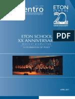 Revista Encuentro - Órgano Informativo del Colegio Eton - Abril 2011