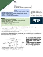 Breathing Summary Sheet