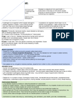 Disease Summary Sheet