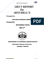 Project Report on Mitchell's Fruit Farm Ltd.