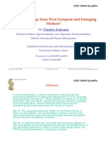 FFTx Learnings From West European and Emerging