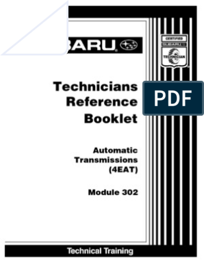 Automatic Transmissions (4EAT)   Manual Transmission