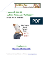 Hcg Diet Plan eBook Download - Pounds and Inches
