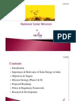 National Solar Mission - JNNSM - Power Point