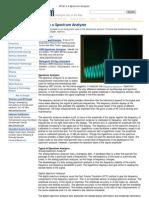 What is a Spectrum Analyzer