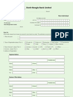 Dbbl Account Opening Form-non Individual