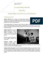 Standarde Minime INGRIJIRI PALIATIVE La Domiciliu