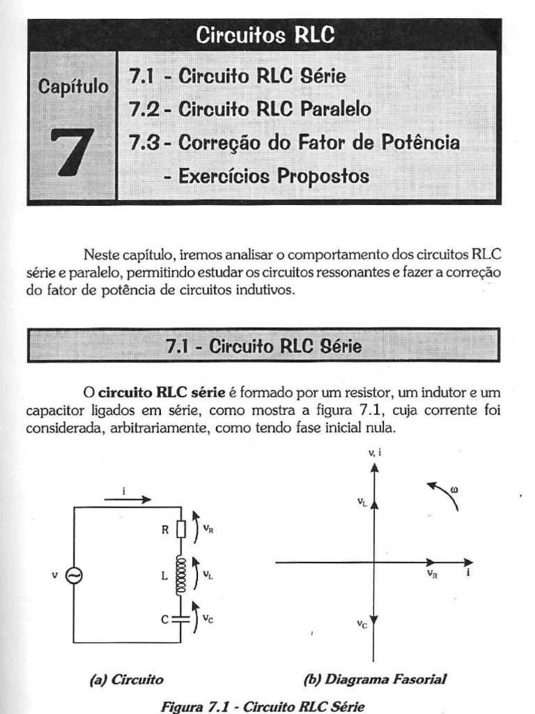 Circuito Rlc Serie Exercicios Resolvidos : Capítulo circuitos rlc