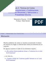 Permutaciones y Combinaciones Coeficientes ales y Aplicaciones a Probabilidades Discretas
