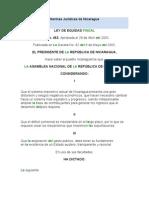 Normas Jurídicas de Nicaragua LEY DE EQUIDAD FISCAL