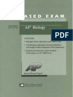 Biology Released Exam 1999