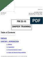 FM 23-10 Sniper