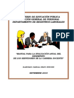 Manual de Evaluacion Del Desempeno Docente