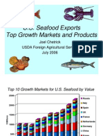 U.S. Seafood Exports Top Markets