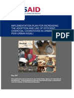 Implementation Plan for Increasing the Adoption and Use of Efficient Charcoal Cookstoves in Urban and Peri-Urban Kigali