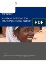 Assistance Options for Vulnerable Households in Ghana