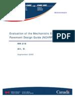 Evaluation AASHTO 2002