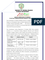 Advertisement for Development of Tourism Projects