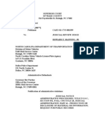 March 3, 2011 Rod's Revised Filing NC Traffic Case