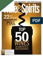 Wine & Spirits 2011 Restaurant Poll