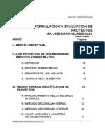 FORMULACIÓN Y EVALUACIÓN DE PROYECTOS DE INVERSIÓN