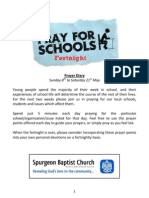 Pray for Schools Fortnight - Prayer Diary