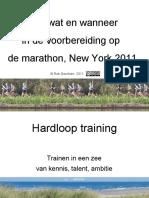NYC ING-Marathon 2011 - Bart's Voorbereiding #1