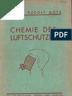Chemie des Luftschutzes - Rudolf Götz , Franz Deuticke - Wien und Leipzig 1938
