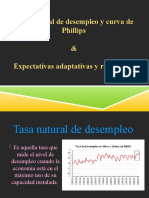Tasa Natural de Desempleo y Curva de Phillips