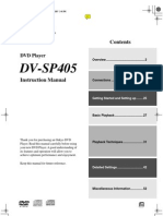 DV SP405 Manual