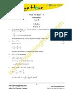 X Maths SQP1 SOL