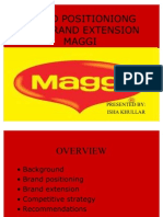 Maggi Brand Positioniong and Brand Extension
