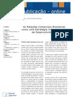 As Relações Comerciais Brasileiras como uma Estratégia Internacional e de Desenvolvimento_Cristina Bruno Barros