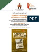 Exposer l'Esclavage - Musée du Quai Branly 11-13 mai 2011