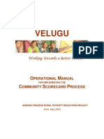 Andhra Pradesh Community Scorecards Operational Manual