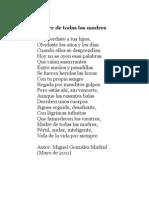 Madre de todas las Madres (Poema) - Miguel González Madrid (Autor)