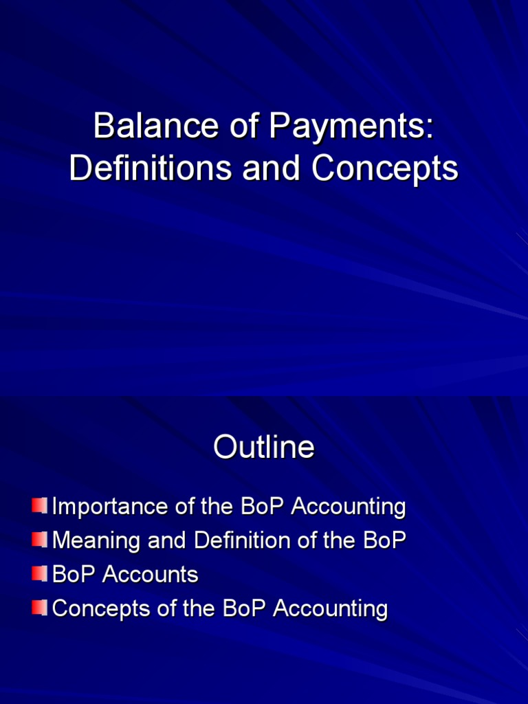 bop | balance of payments | debits and credits