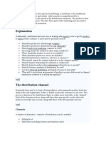Distribution is One of the Four Aspects of Marketing
