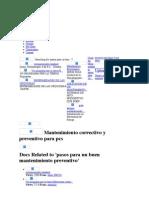 Mantenimiento correctivo y preventivo para pcs