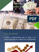Tasa de interés, inversión consumo y ahorro