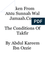 The Conditions Of Takfir