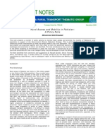 TRN 28 Rural Access & Mobility in Pakistan
