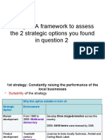 Q3Using SFA Framework to Assess the 2 Strategic