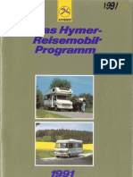 1991 Hymer Reisemobilprogramm