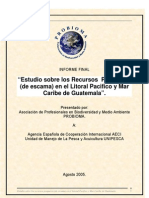 Recursos pesqueros de escama en Guatemala