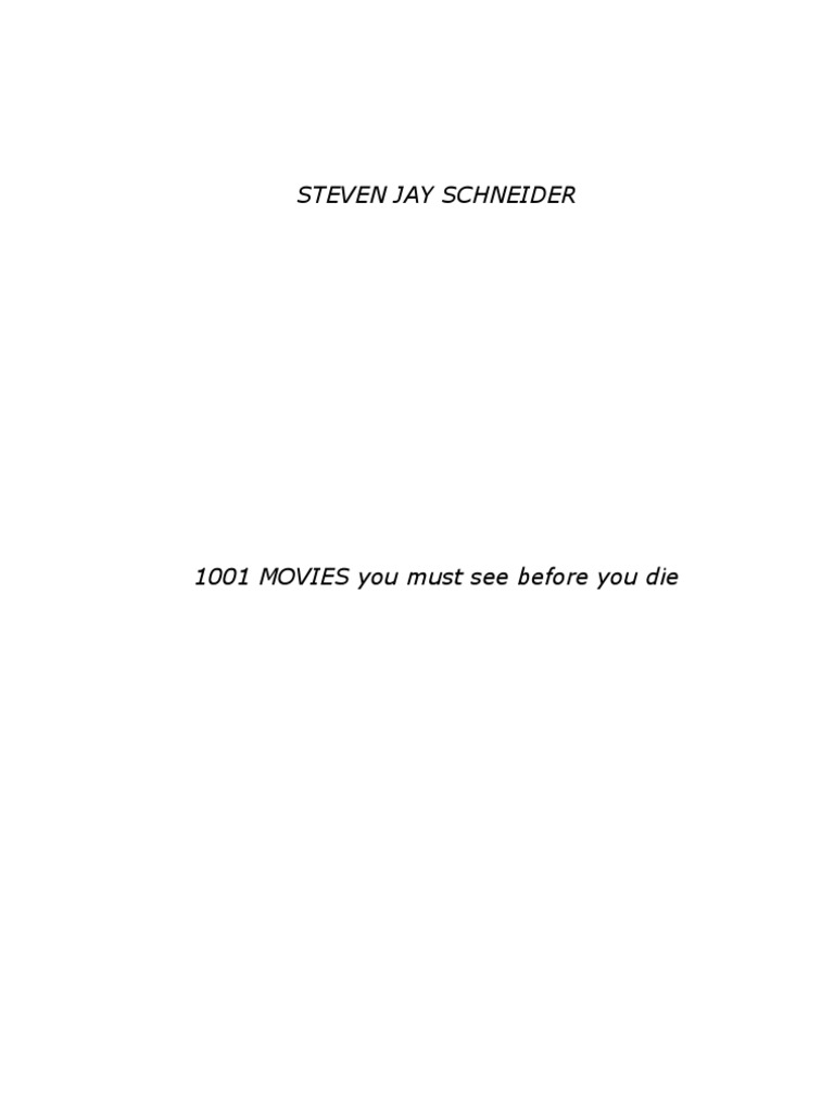 1001 Games To Play Before You Die List 1001 movies you must see before you die(1)